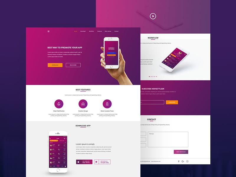 landing page web studio design